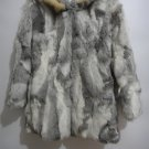 nature brown rabbit fur coat raccoon fur hooded