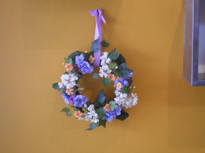 KFA 805 Silk flower whreath 2