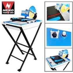 "3/4HP 7"" Neiko Tile Cutter W/Water Pump And Laser Guide"