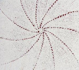 Pinwheel Christening Blanket