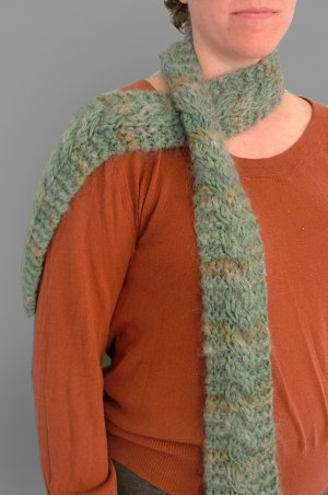 Cable Mohair Scarf