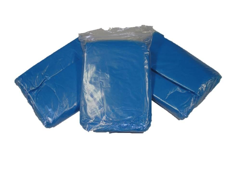 Blue Emergency Disposable Polyethylene Rain Poncho .02 MM Case of 200