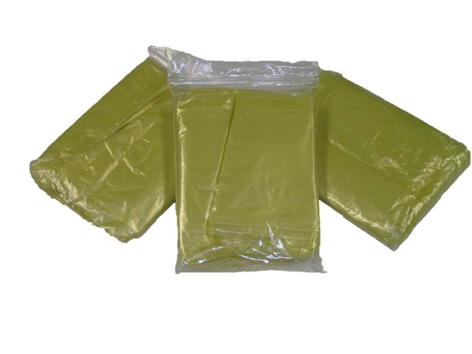 Yellow Emergency Disposable Polyethylene Poncho .02 MM Case of 200