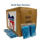 Emergency Rain Poncho Democratic Blue Case of 200