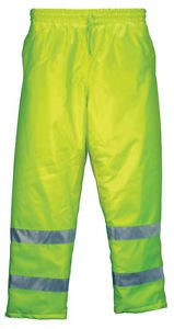 Thermal LIned Waist Pant Lime With Reflective Stripes, Class E