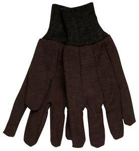 Cotton Brown Jersey Glove, 8 Ounce, Three Dozen