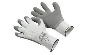 ATLAS Fit Gray Rubber Palm Coated Insulated Glove, Sold by the Dozen, Size Large