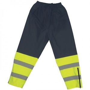 Class E Hi Vis Lime/Dark Navy Rain Pants