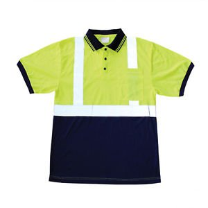 Class 2 Hi Vis Short Sleeve Polo shirt-XL