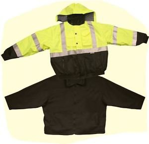 Class 3 Hi Vis 4 in 1 Bomber/Vest/Fleece Jacket