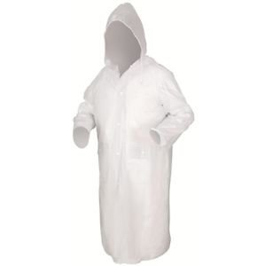 49 Inch Clear Rain Coat, Size M
