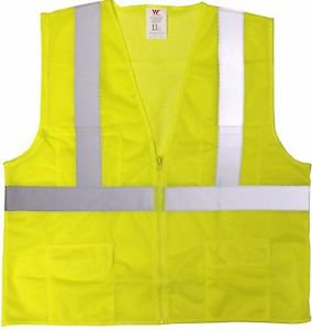 Class 2 Lime Mesh Vest With Zipper