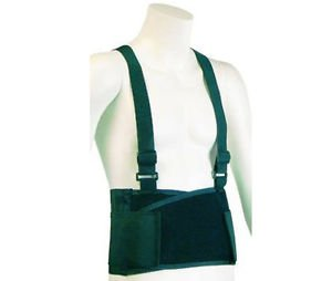 Back Support Belt With Elastic Suspenders