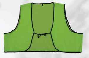 Economy Lime Disposable PVC Safety Vest With Ties Case of 250