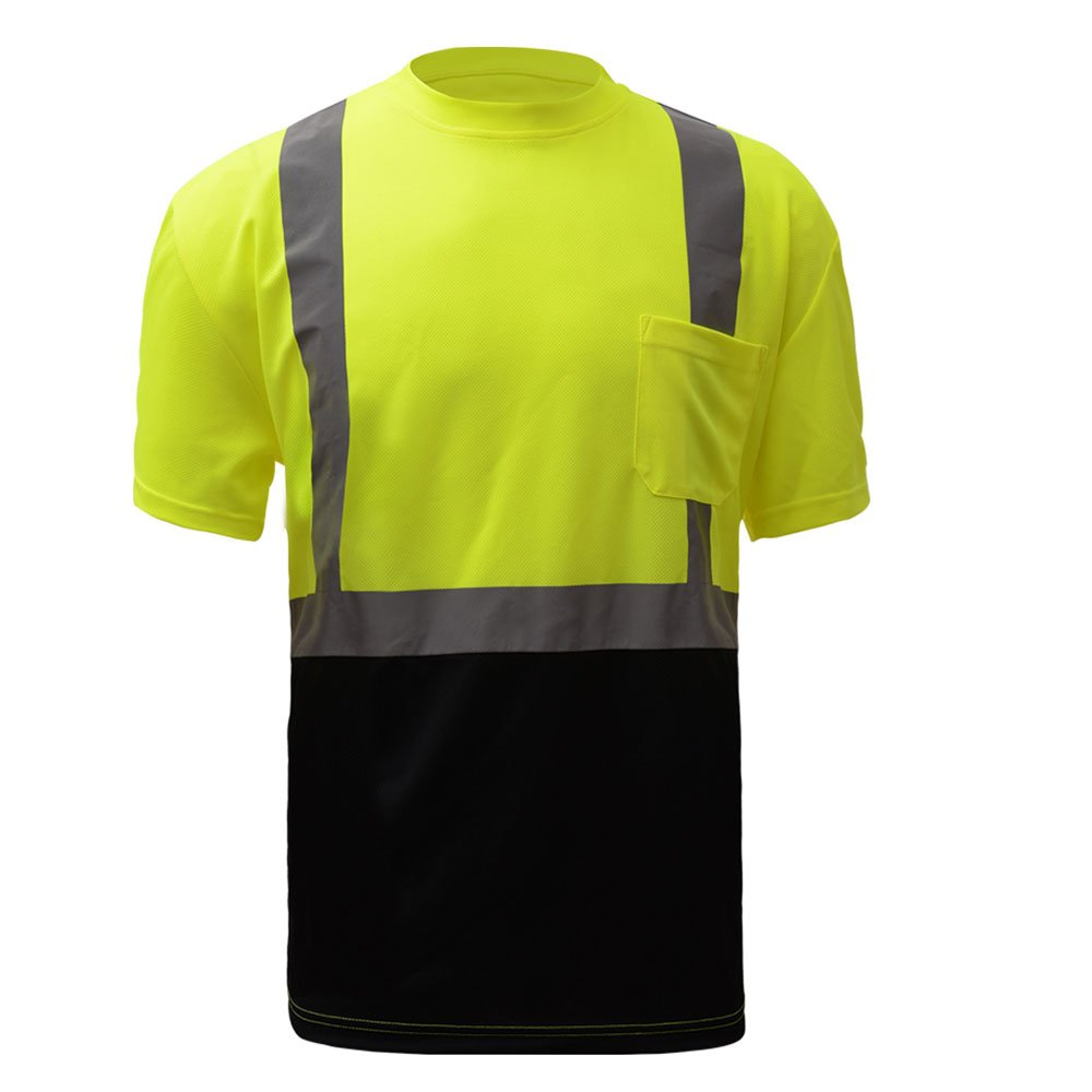 Class 2 Hi Vis Black Bottom T-Shirt, Size Large