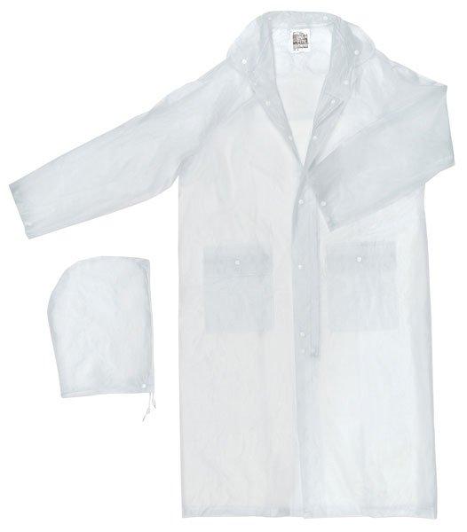 49 Inch Clear Rain Coat, Size L