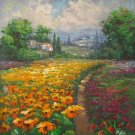 Garden Pathway Oil Painting Canvas Wall Art