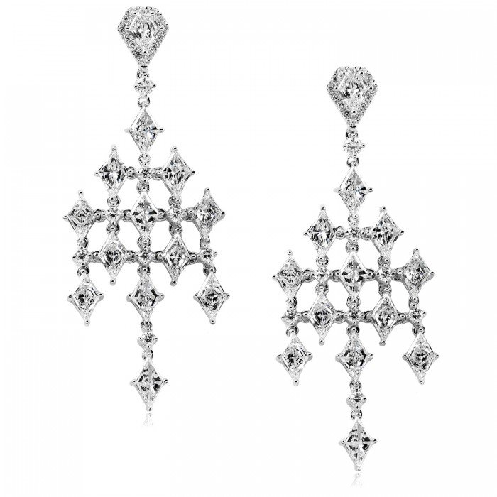 DIAMOND EARRINGS 4 1/3 CARAT (CTW) IN 14K WHITE GOLD