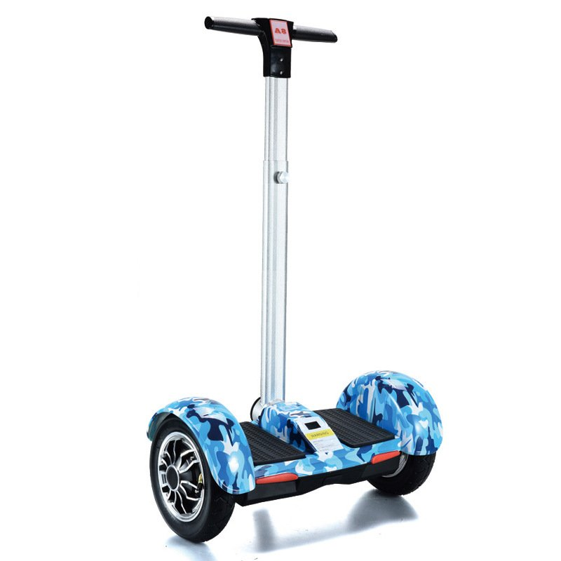 A8 Electric Scooters Smart Hoverboard with Handle Bar Blue Ice