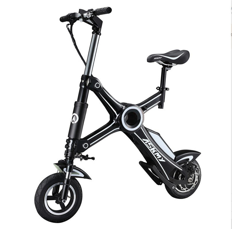 ASKMY X1 foldable electric scooter electric bike Black