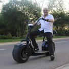 Halei Electric 1000W Big Wheel Motorcycle Electric Scooter Black