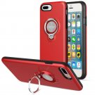 360 Degree Rotating Ring Grip Case for iPhone 7 Plus Red