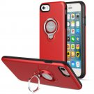 360 Degree Rotating Ring Grip Case for iPhone 7 Red