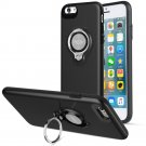 360 Degree Rotating Ring Grip Case for iPhone 6 Plus Black