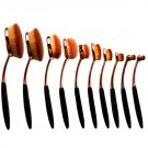 Oval Makeup Brush Umbrella Tooothbrsuh 10pcs Cosmetics Brushes Set