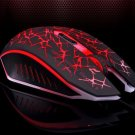 Human Ergonomic 6 Keys 2400DPI Optical Lighting Wired Gaming Mouse for Home Office Red