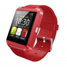 U8 Smart Watch Bluetooth with Touch Screen Pedometer Red