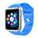 A1 Smartwatch Phone Camera Sound Recorder Alarm Pedometer FM Sleep Monitor Watch blue
