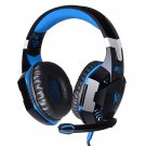 EACH G2000 Wired Gaming Headset USB Audio Stereo Headphone Blue