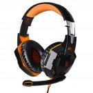 EACH G2000 Wired Gaming Headset USB Audio Stereo Headphone orange
