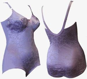 Crownette Shaper Body Briefer Bodysuit 36 C Lavender Purple