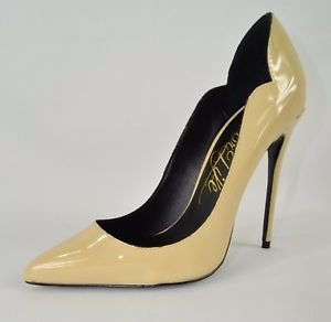 Lust for Life Kash Nude Beige Patent Leather Pointy Toe Pump Shoe 7-12