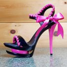 "Previously Sold Blondie 615 Dual Platform Ribbon Ankle Strap 6"" Stiletto Heel 10"