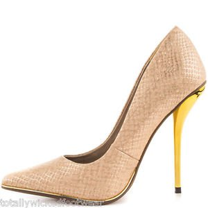 Luichiny Mind Blowing Nude Snake Pointy Toe High Heel Pump Shoe 7 - 11