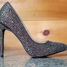 "Vigo Fiore Multi Color Rhinestone Pointy Toe Pump 5"" Heel Shoe 7-11 Black"