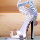 Athena Fly Girl Wing Closed Back Ankle Strap Sandal Shoe Beige Rose Gold