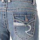 Revolt Heavy Stitch Twisted Flare Jean Light Wash 7x37 Tall Flap Pocket New