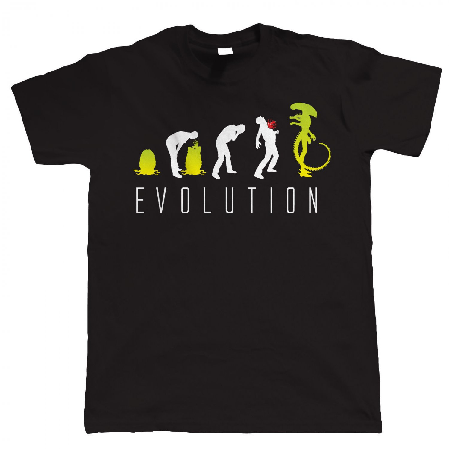 Evolution of Alien, Funny Mens Sci-Fi- T Shirt