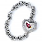 Arizona Cardinals Heart Bracelet Watch