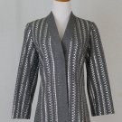 Vintage GUY LAROCHE PARIS Gray and Silver Sequined Dinner Jacket France 36 US 6