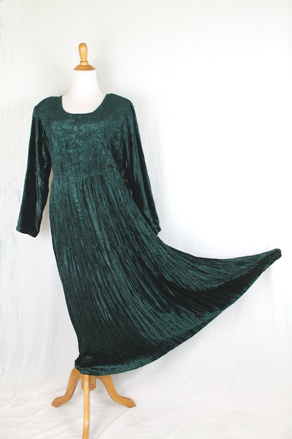 Vintage STARINA 1920's Inspired Long Velvet Artsy Dress New With Tags L