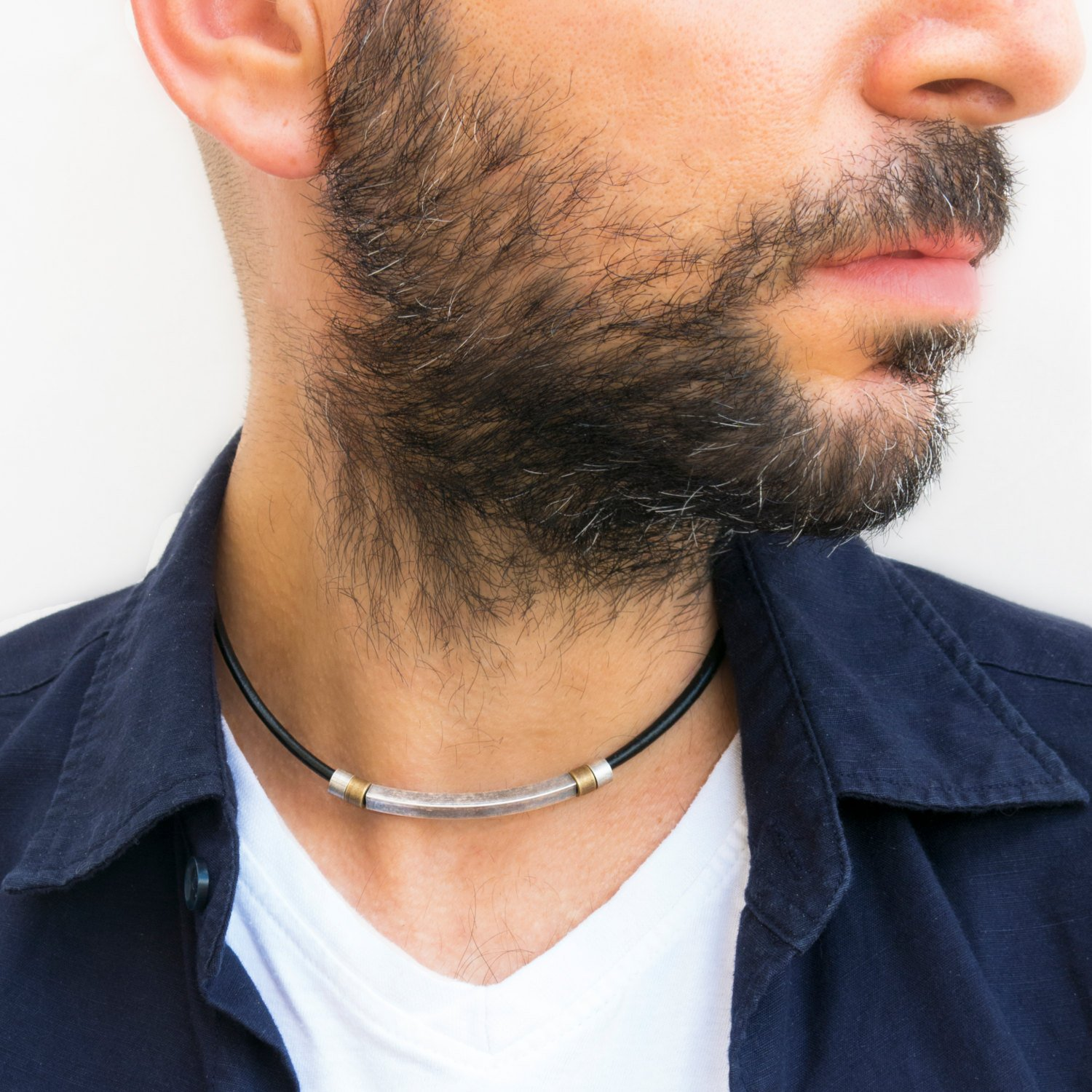 mens necklace mens choker necklace mens leather
