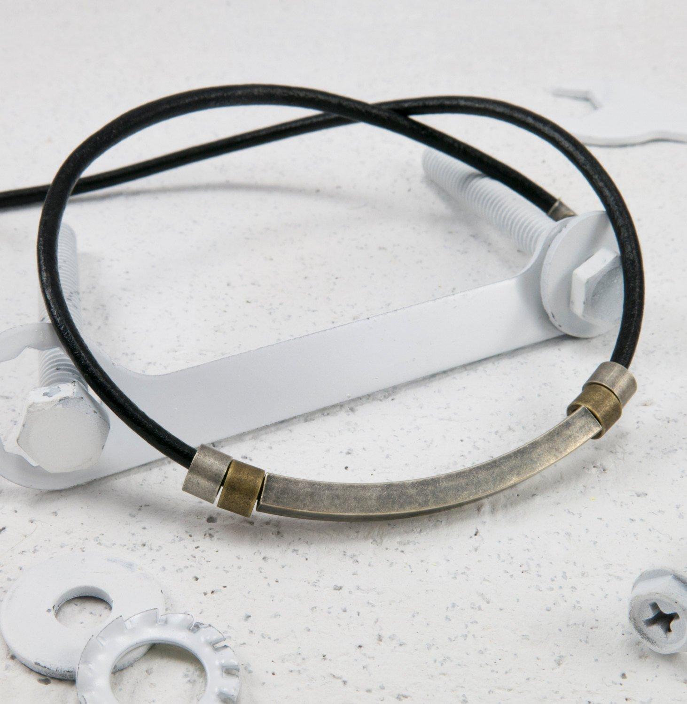 Men Necklace - Men Choker Necklace - Men Leather Necklace - Men Jewelry - Men Gift