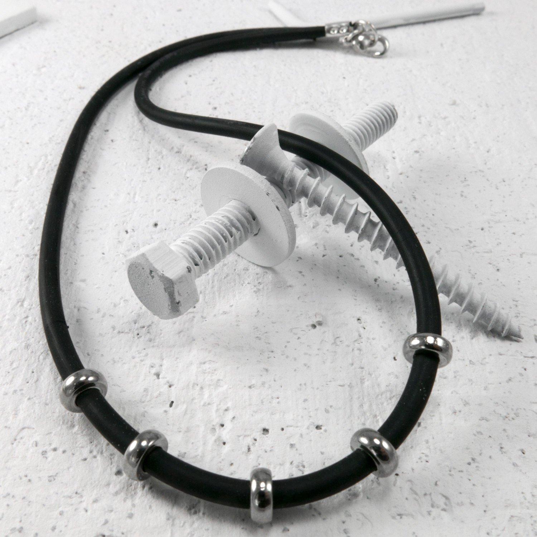 Men Necklace - Men Choker Necklace - Men Vegan Necklace - Men Jewelry - Men Gift