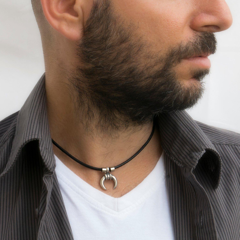 Men's Necklace - Men's Choker Necklace - Men's Vegan Necklace - Men's Jewelry - Men's Gift