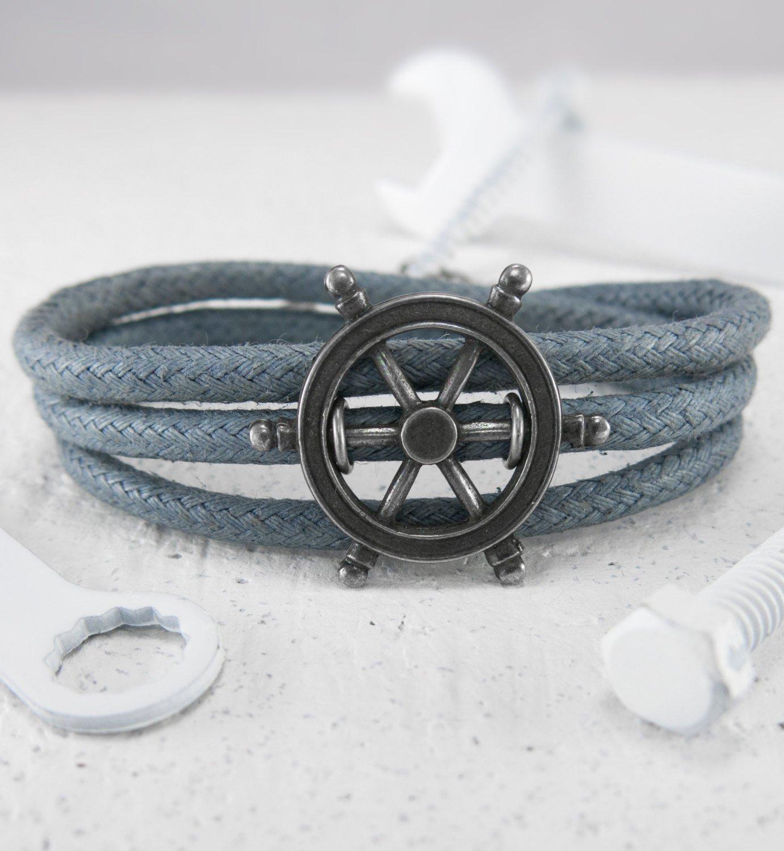 Men Bracelet - Men Jewelry - Men Nautical Bracelet - Men Vegan Bracelet - Men Gift